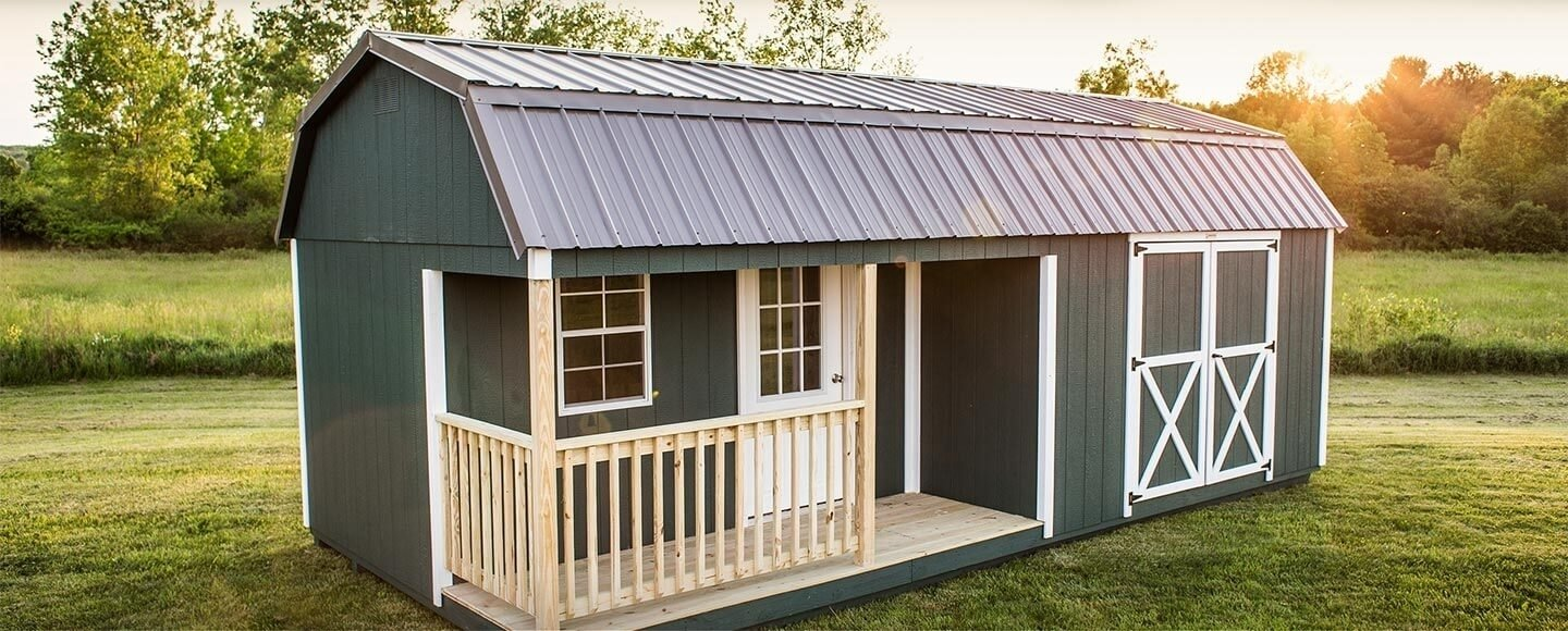 Woodtex's ready-made barns are ideal as a storage shed, garden shed, tool shed, recreational workshop, office space, garage, or cabin.  Photo 11 of 11 in 10 Prefab Barn Companies That Bring DIY to Home Building