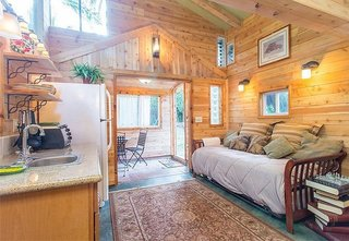10 Dream Modern Home Rentals In Hawaii - Photo 6 of 10 - If you are traveling on a much more modest budget, look no further than this part fairy cottage, part hippie hideaway. This little house is tucked away in a lush Hawaiian garden. Perfect for unwinding.