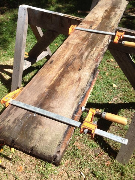 Some running repairs to get planks ship-shape again.