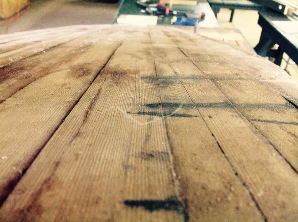 The rough cut.  Photo 13 of 26 in Crafting a Hollow Wood Surfboard from Old-Growth Redwood