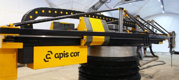 """World's First 3D-Printed House Springs up in Russia in 24hrs - Photo 1 of 8 - The Apis Cor 3D printing """"arm"""" is reminiscent of a tower crane and is small, easily transportable and does not require detailed preparation before construction can begin, utilizing a built-in automatic horizon alignment and stabilization system. The printing process is automated and almost eliminates human error."""