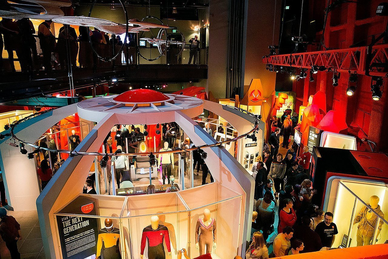 """The """"Star Trek: Exploring New Worlds"""" is the featured exhibition at the Museum of Pop Culture,  Photo 9 of 14 in 13 Iconic Buildings Designed by Frank Gehry"""