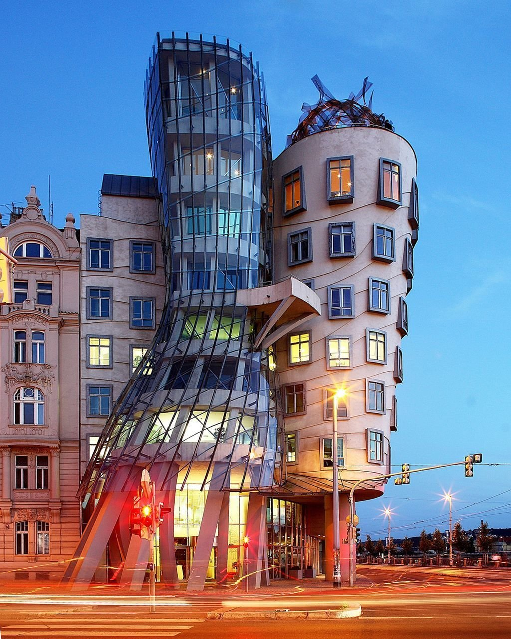 Genry's very non-traditional design of Dancing House was controversial at the time because the house stands out among the Baroque, Gothic and Art Nouveau buildings for which Prague is famous, and in the opinion of some it does not accord well with these architectural styles. The then Czech president, Václav Havel, who lived for decades next to the site, avidly supported this project, however, hoping that the building would become a center of cultural activity.  Photo 12 of 14 in 13 Iconic Buildings Designed by Frank Gehry