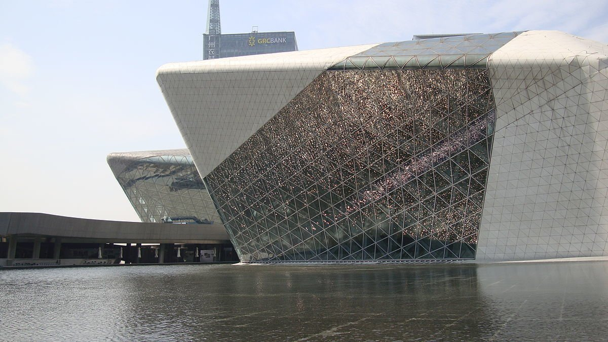 """Exterior A review in the New York Times says of Guangzhou Opera House:  Photo 7 of 18 in """"Queen of the Curve"""": 18 Influential Works by Zaha Hadid"""