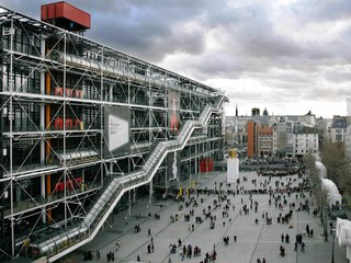 "National Geographic described  this design as ""love at second sight."" The  Centre Georges Pompidou in Paris revolutionized museum design, showcasing a busy center for social activities and cultural exchanges. The building appears to be turned ""inside out,"" revealing its inner workings."