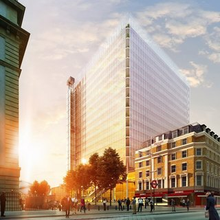 "Also a work in progress, Piano has cut 54 stories from his stalled Paddington Pole skyscraper to create a new proposal for a ""floating"" glass cube on London's Paddington station. The 18-story building comprises a 14-story office block that's raised 39 feet above a large public space."