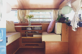 9 Adventure Seekers Who Celebrate Small Space Living Through the Van Life - Photo 4 of 10 - Mariel is a Costa Rican stylist, pilates teacher, and macrame lover. She lives in her sweet ride that's decked out in soft, wooden tones.
