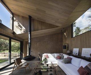 The interiors boast a chic, contemporary feel.