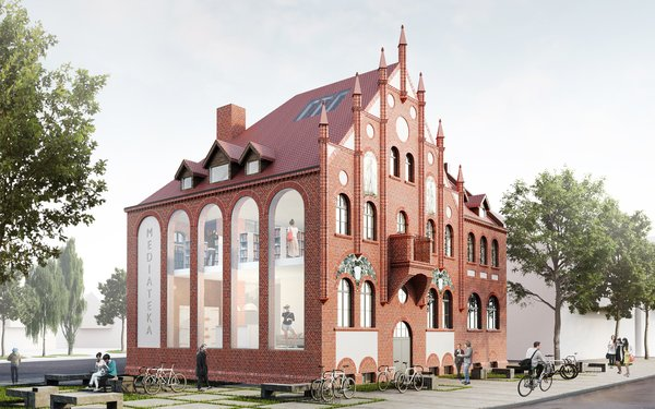 Town hall in Orunia, Gdansk, Poland