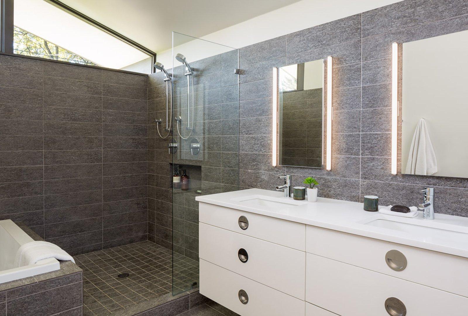 Tagged: Bath Room and Drop In Tub.  Mid Century Re-Modern by HMHAI