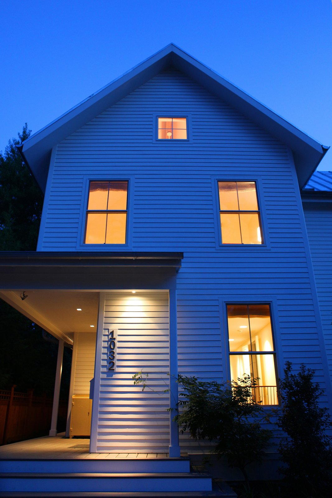 Exterior, Metal Roof Material, House Building Type, Gable RoofLine, and Farmhouse Building Type  Urban Farmhouse