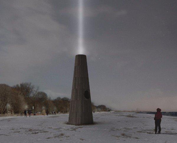 """""""The Beacon"""" installation by Joao Araujo Sousa and Joanna Correia Silva from Porto, Portugal."""