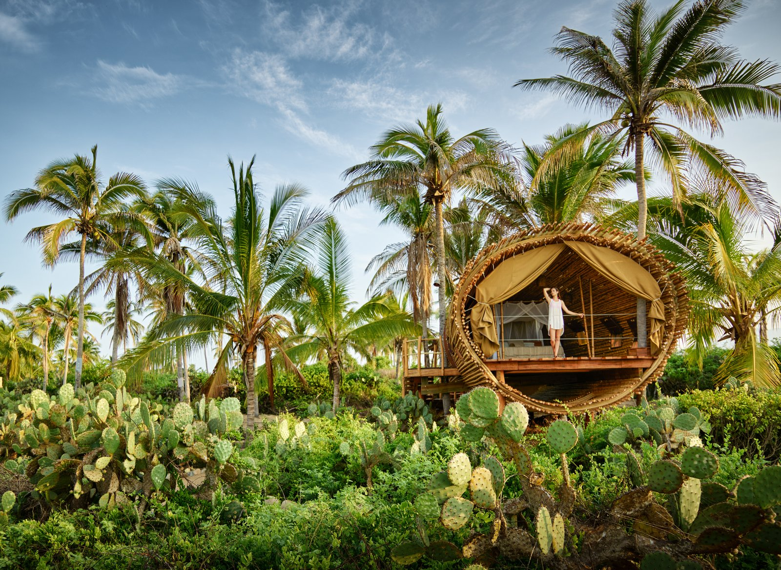 Exterior and Treehouse Building Type The Playa Viva tree house by ArtisTree  Photo 13 of 16 in Experience Tree-Top Living at One of These Sustainable Tree Houses