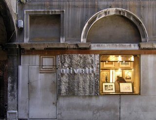 Shown here is the exterior of the Olivetti showroom in Venice.