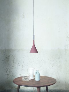 Shown here is Foscarini's Aplomb fixture in red brick.