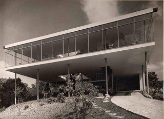 Lina Bo Bardi's Bardi House (Casa de Vidro) in São Paulo, Brazil, 1949–1952