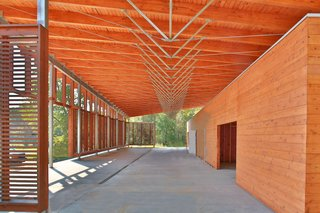 The Funny Girl Farm Produce Barn in Durham, North Carolina, by Szostak Design won a 2017 award for its inventive use of simple materials for an agrarian structure.