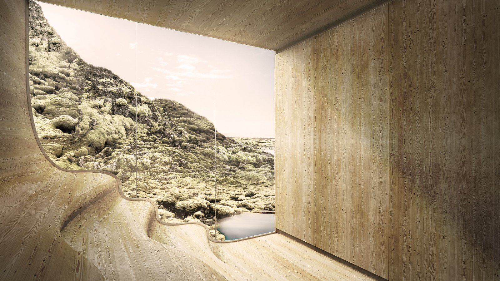 Bath Room sauna  Photo 7 of 18 in A Proposed Icelandic Resort Celebrates Wellness and its Magical Surroundings