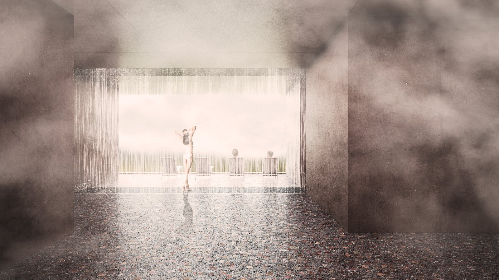 Bath Room rain shower  Photo 15 of 18 in A Proposed Icelandic Resort Celebrates Wellness and its Magical Surroundings
