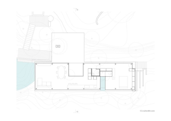 The plan of the Cloaked House.  Photo 15 of 15 in A Portuguese Glass House Uses Surrounding Foliage as a Privacy Screen