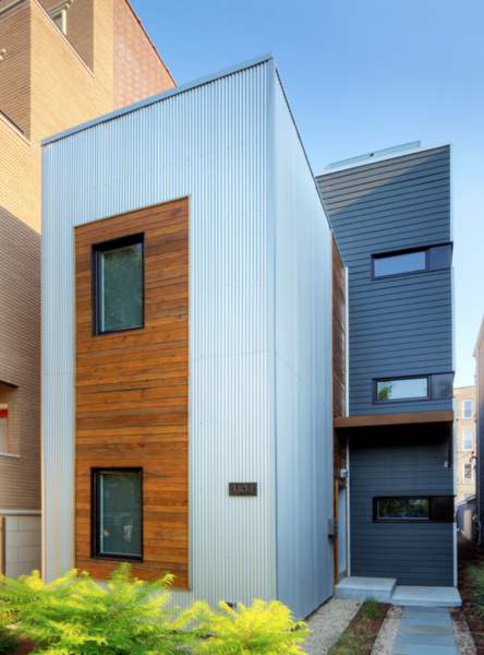 Square Root Architecture + Design's initial C3Prefab was one of the first prefabricated sustainable residences in the Windy City. It's a prototype of how residential construction can be simultaneously affordable and eco-friendly within an urban context through modular construction.