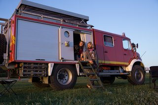 A Couple Explore Europe in a Converted 1987 Mercedes-Benz Fire Truck