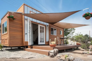 Located in sunny Southern California, The Zen Cottages offers three different models—as well as custom-built tiny homes—that are typically between 16 to 32 feet long and between 8 to 10 feet wide. Although the larger homes aren't ideal for transporting, the smaller Alpine model is built for long hauls and can even travel through rocky terrain. The interiors are light-filled, simple, and efficient, with careful attention to natural materials.