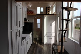 With a showroom in Salem, Oregon, and an office in Sacramento, California, Tiny Mountain Houses designs tiny homes with three goals in mind: craftsmanship, comfort, and affordability. Their homes are completed with unique touches and hand-selected wood, and are available in both single-level and lofted floor plans. They also offer more than 10 different models, each with financing options available.