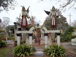The Kenny Hill Sculpture Garden in Chauvin, Louisiana