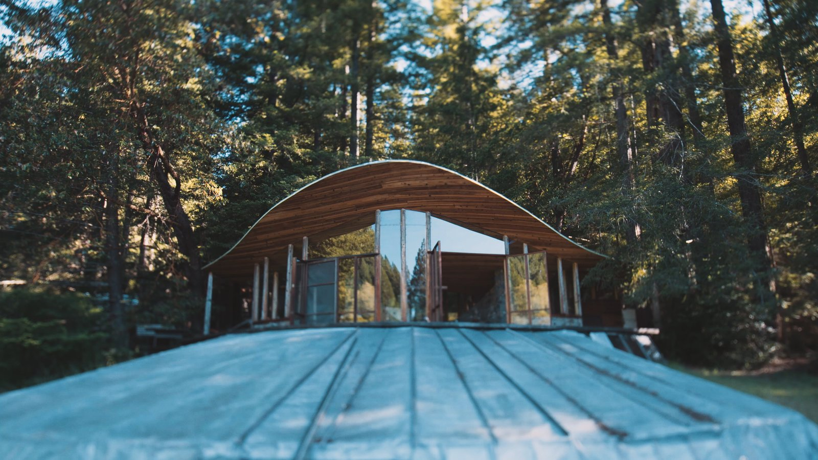 The Parabolic Glass House in Northern California Is One Architect's Utopia in the Redwoods