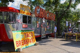Austin's lively food truck scene is a great way to experience the city's vibrant variety of food while taking in eye-catching graphics and designs.