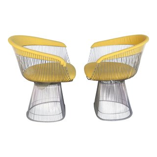 Knoll produced this iconic design by midcentury architect and designer Warren Platner.