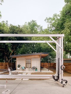 ICON developed its Vulcan I 3D printer over a period of about two years. The gantry-style printer on rails is mobile and weighs about 2,000 pounds.