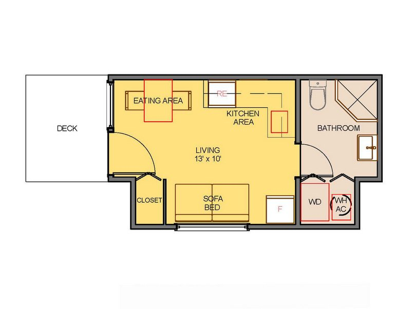 CW Dwellings Sparrow 208 shipping container home floor plan