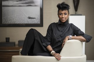 Interior designer Kesha Franklin is the CEO and lead designer of New York–based Halden Interiors.