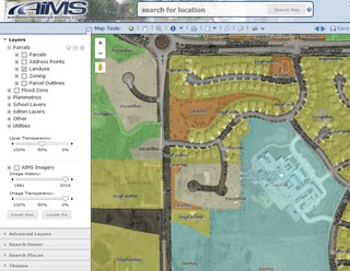Most cities and counties have a Geographic Information System that provides a wealth of information about properties.