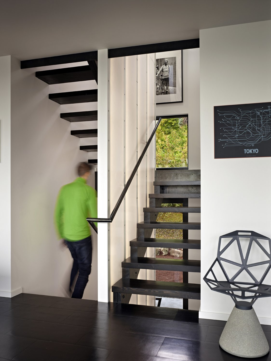 Stair  Cycle House by chadbourne + doss architects