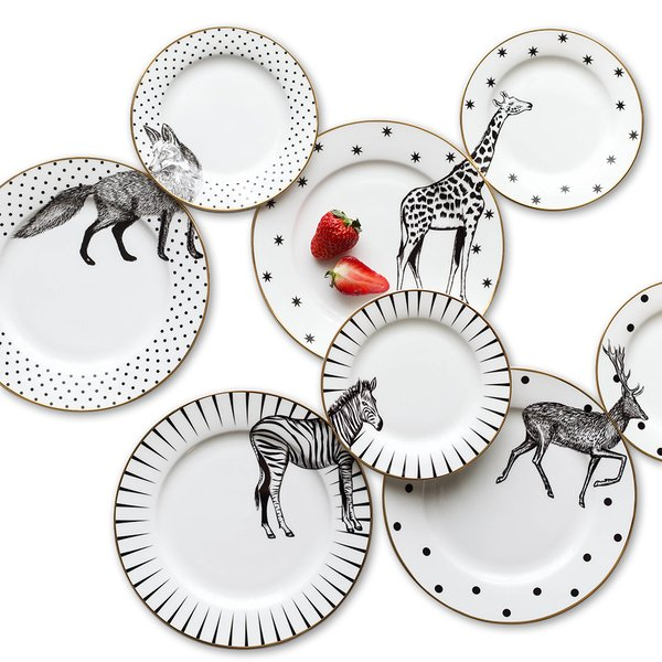 """Jungle"" Ceramic Plate Sets"