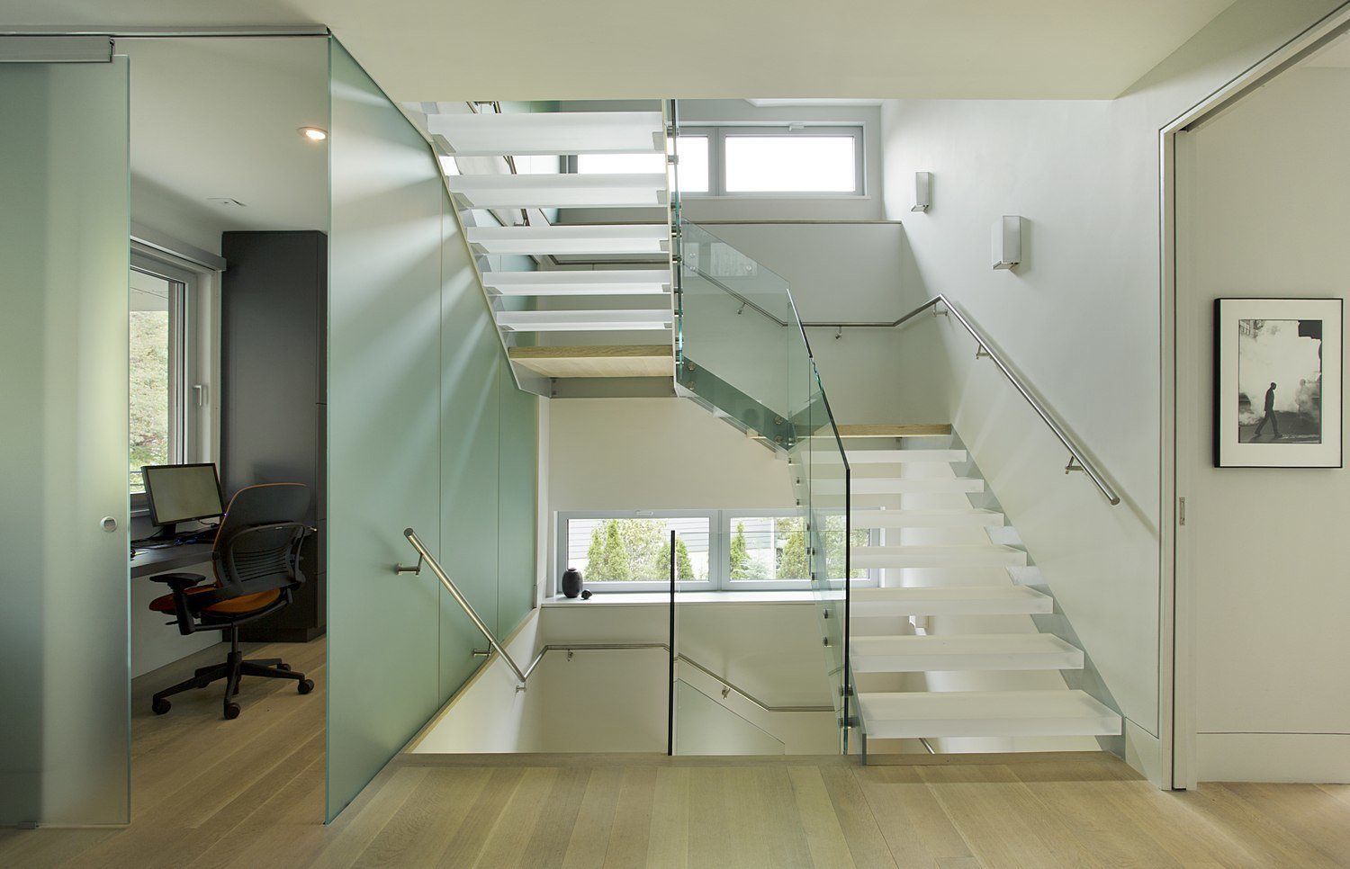 Staircase  Brookline Residence by ZeroEnergy Design