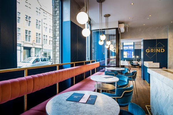 A New Velvet- and Brass-Filled Restaurant That's Housed in a 19th-Century London Warehouse - Photo 2 of 7 -