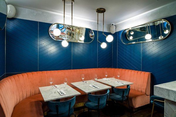 A New Velvet- and Brass-Filled Restaurant That's Housed in a 19th-Century London Warehouse - Photo 5 of 7 -