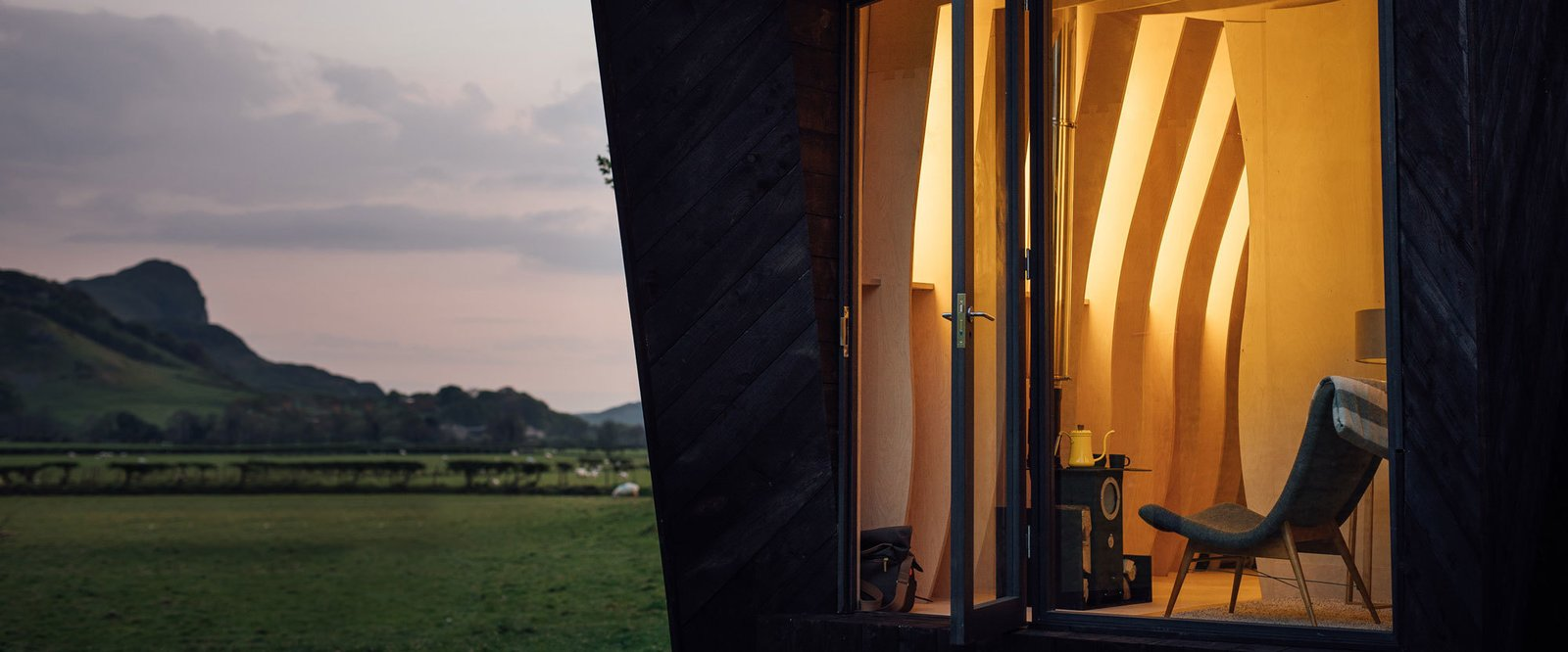 Photo 3 of 11 in Tour One of Epic Retreat's Tiny Pop-Up Hotel Cabins in the Welsh Countryside