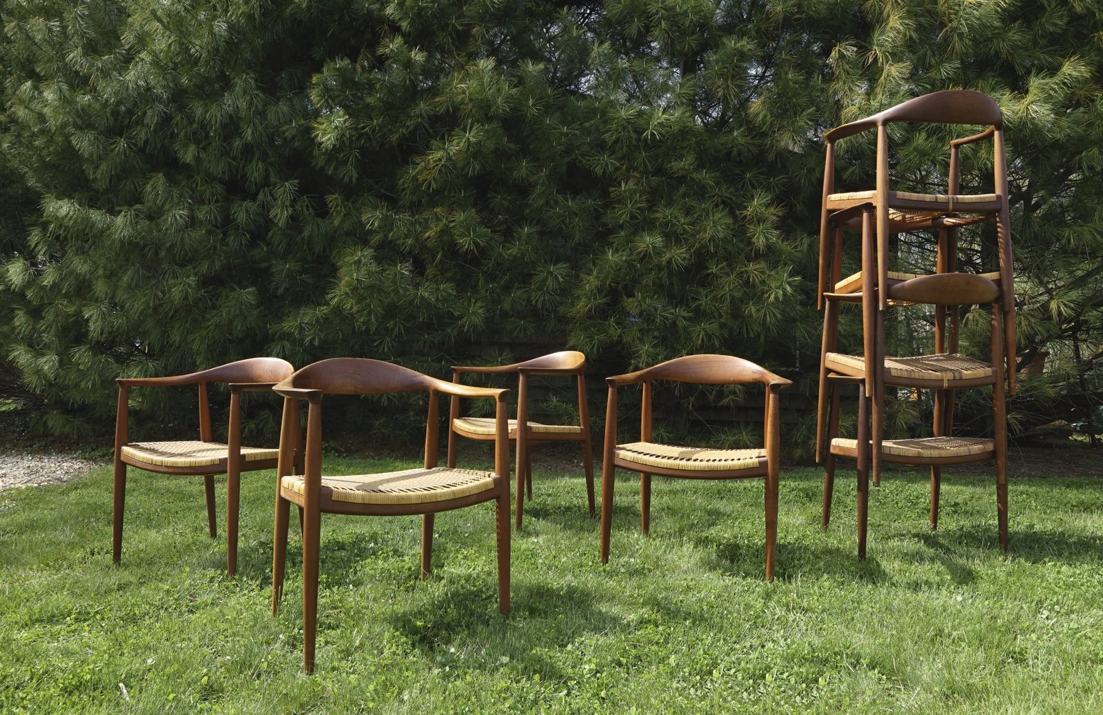 """Hans J. Wegner, Eight """"Round"""" Chairs Model No. JH501, Estimate $20,000–$30,000  Photo 10 of 10 in Next Week Marks Sotheby's Sale of Iconic Design Pieces From WYETH's Coveted Collection"""