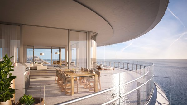 The condos are outfitted with light oak and Venetian terrazzo floors.  Photo 6 of 8 in Sneak Peek of Renzo Piano's New Stunning Oceanfront Condominiums in Miami's North Beach