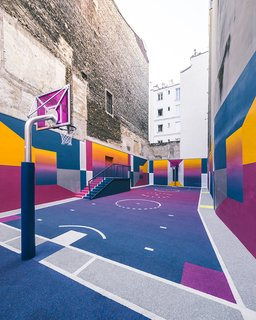 A Technicolor Basketball Court in Paris - Photo 4 of 9 -