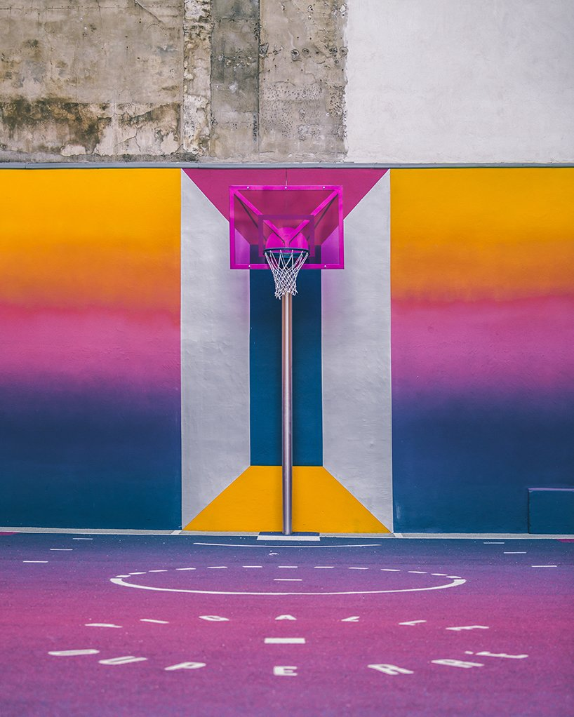 Photo 9 of 10 in A Technicolor Basketball Court in Paris