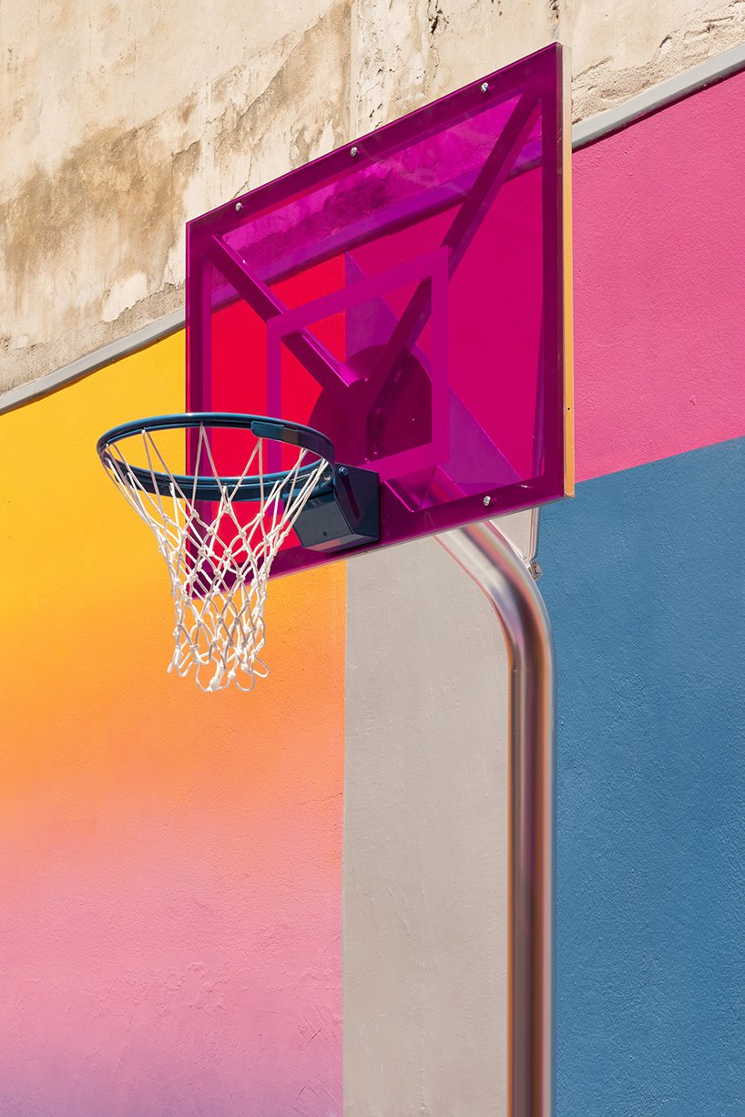 Photo 8 of 10 in A Technicolor Basketball Court in Paris