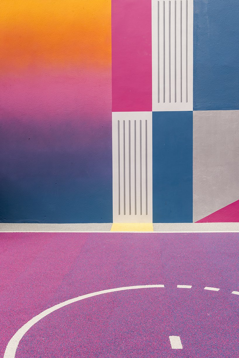 Photo 6 of 10 in A Technicolor Basketball Court in Paris