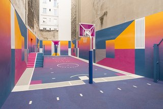 A Technicolor Basketball Court in Paris - Photo 9 of 9 -