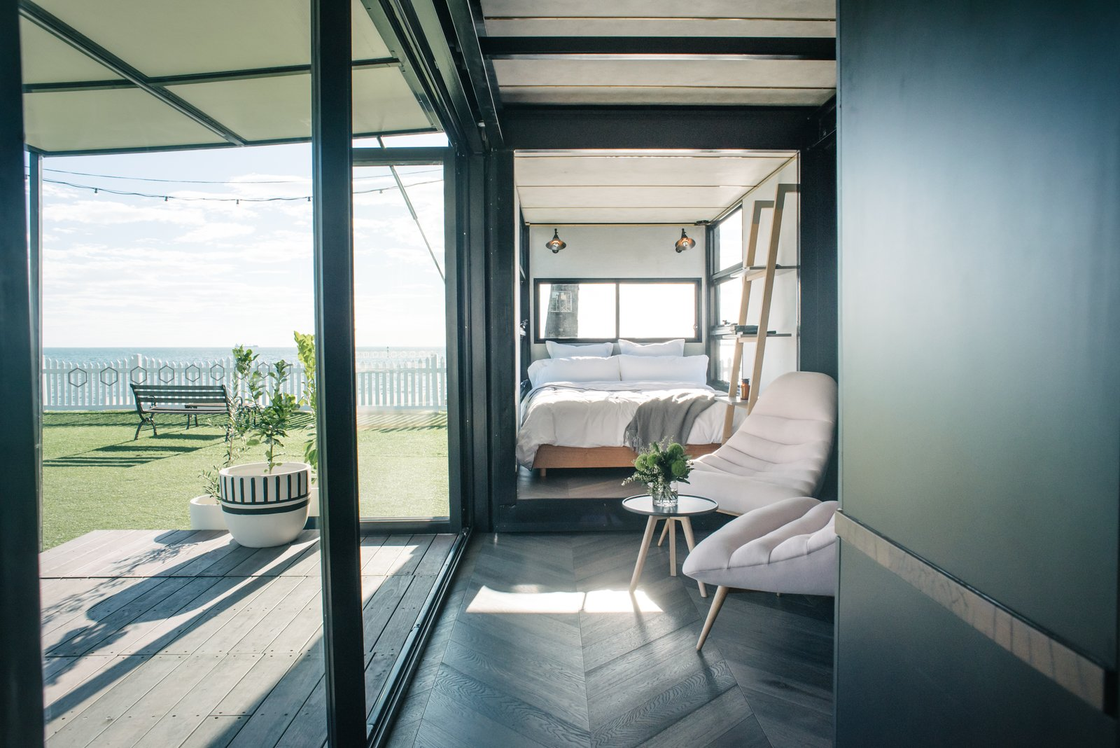 Photo 2 of 9 in An Australian Firm Makes Portable Hotel Rooms Out of Shipping Containers